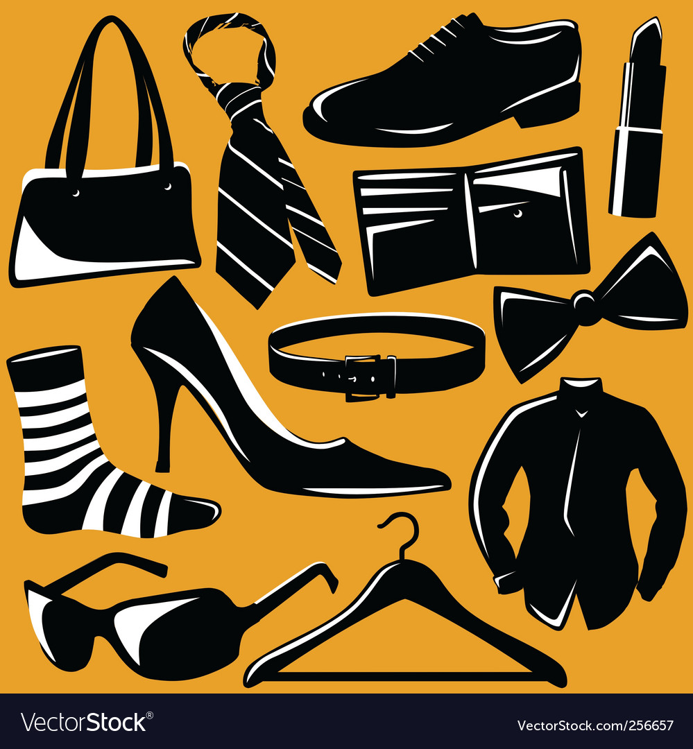 Fashion objects vector