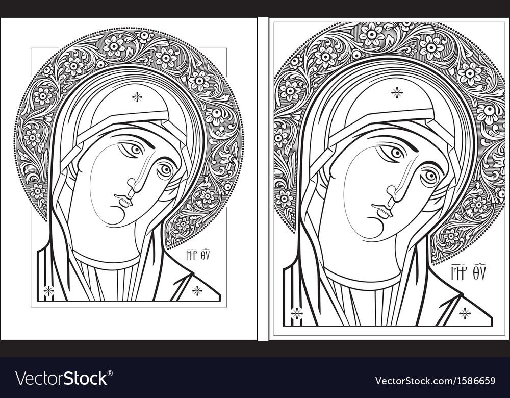 Virgin oplechnaya outline11-12 picture vector