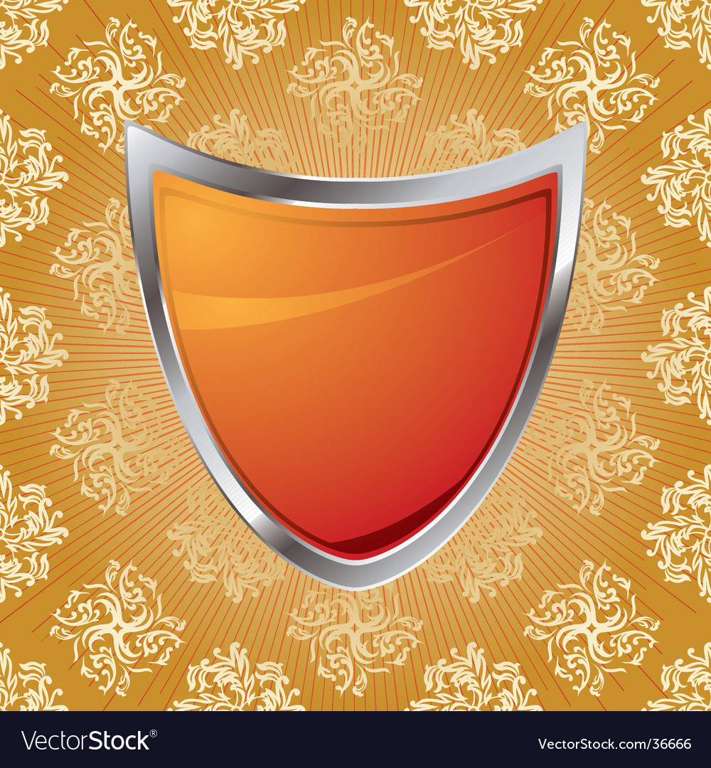 Pattern shield vector