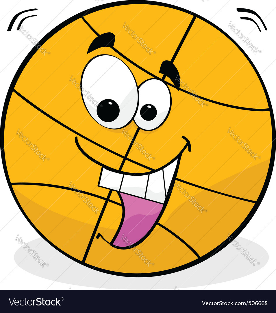 Cartoon basketball vector