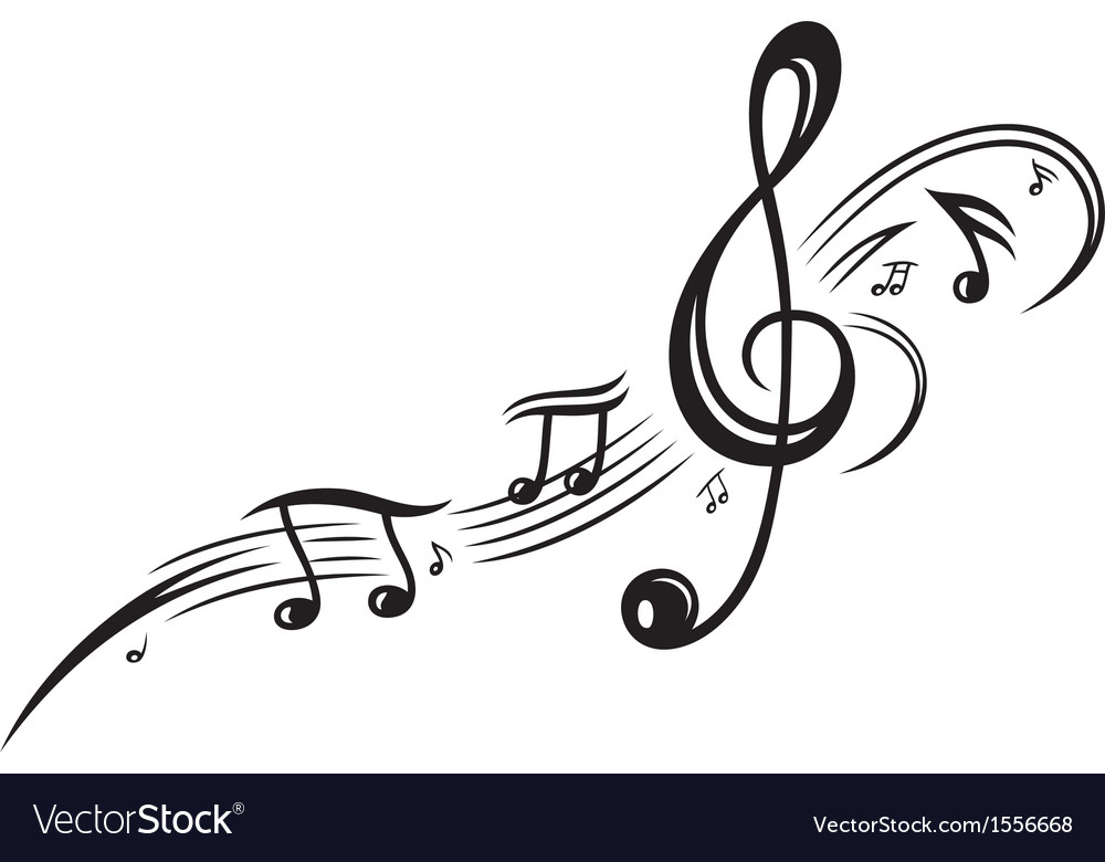 Clef music notes vector