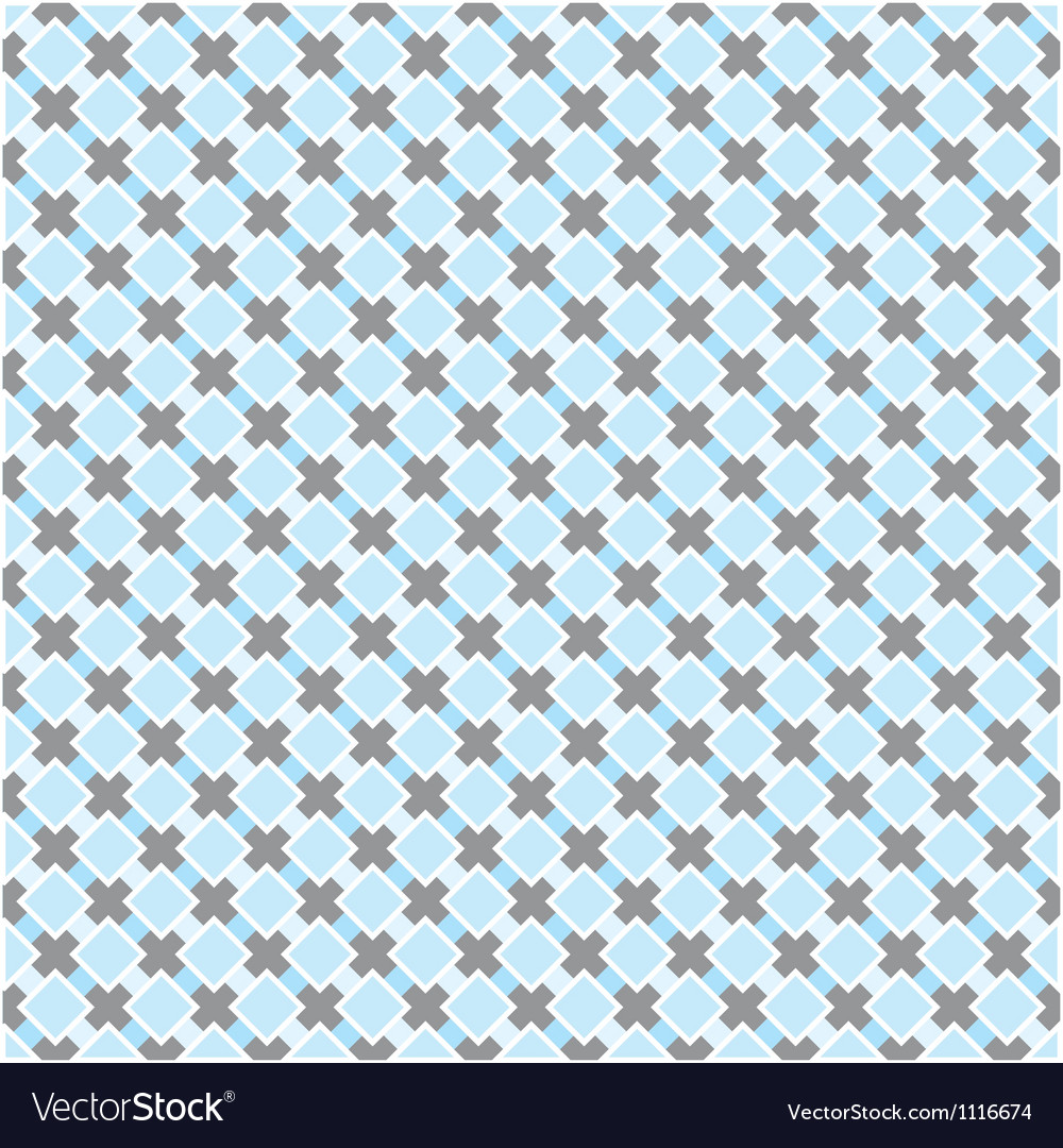 Blue and dark grey grid seamless background vector