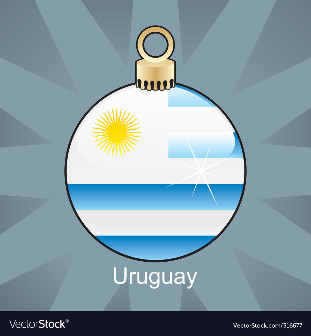Uruguay flag on bulb vector