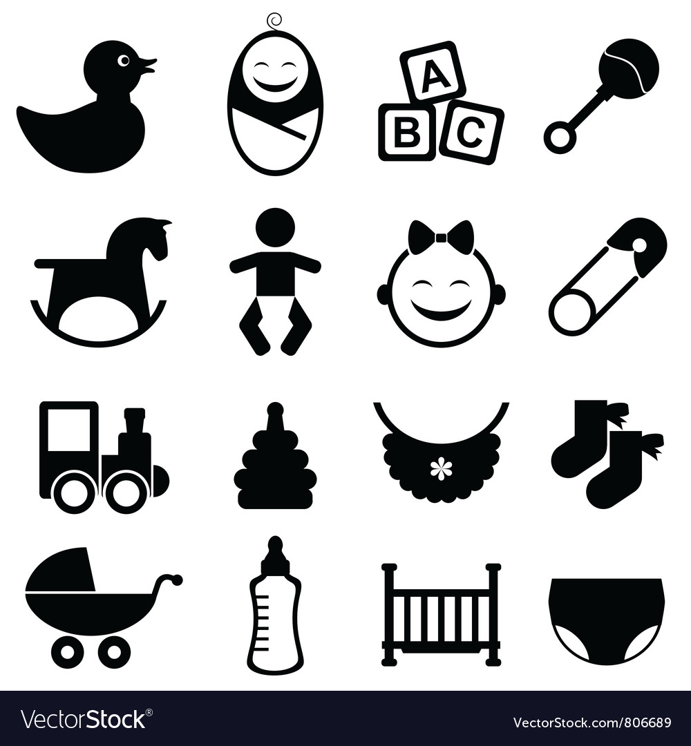 Newborn icon toys vector