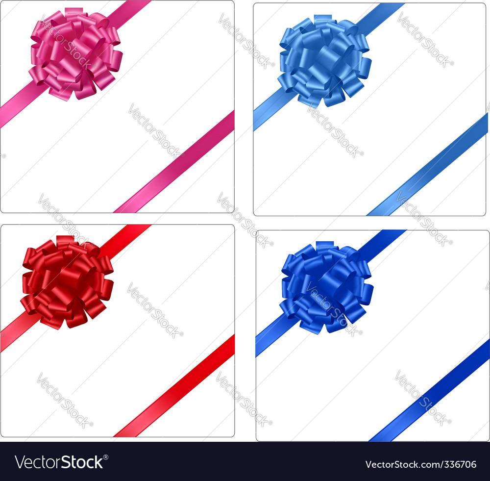 Bows and ribbons vector