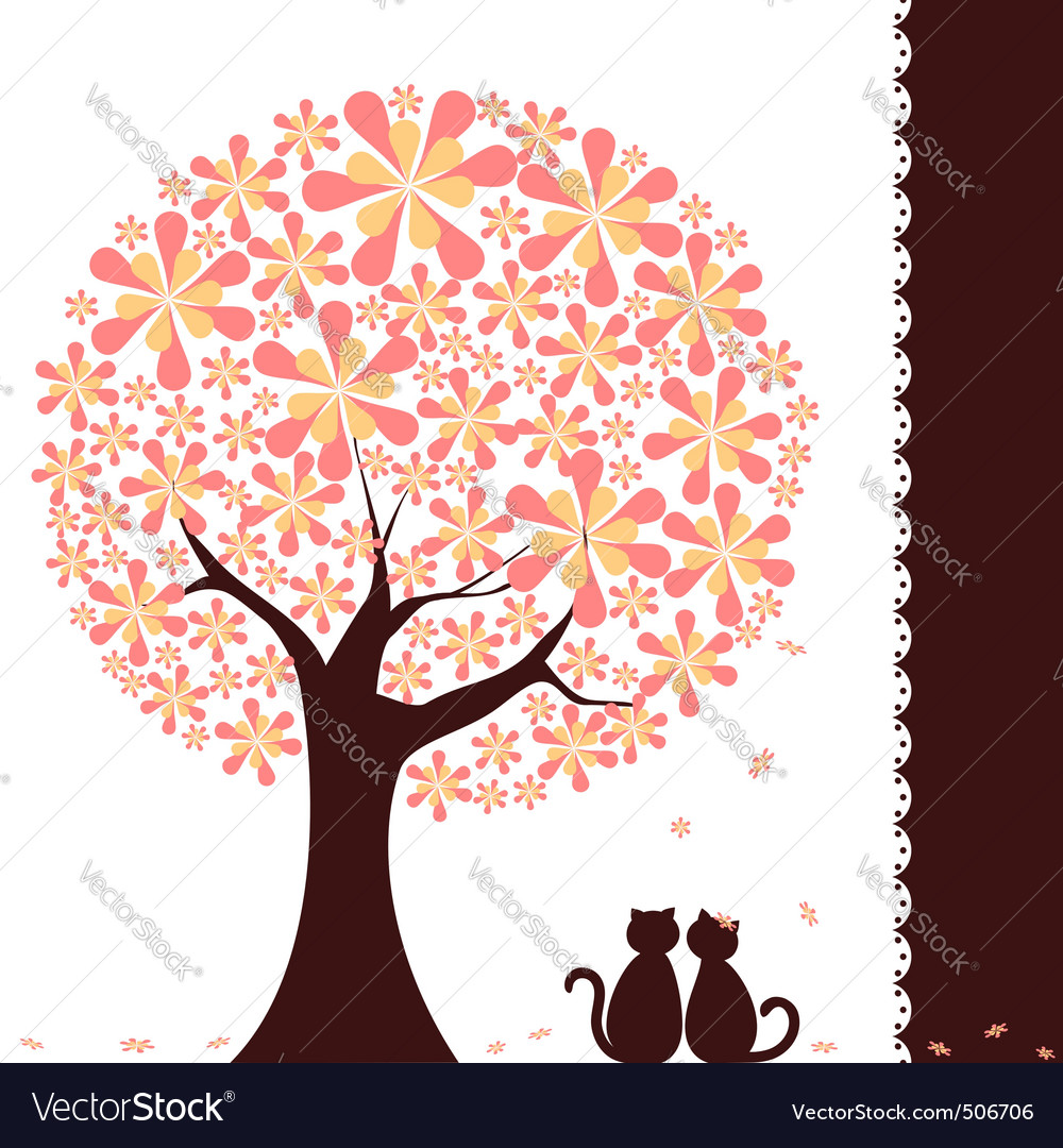 Springtime tree vector