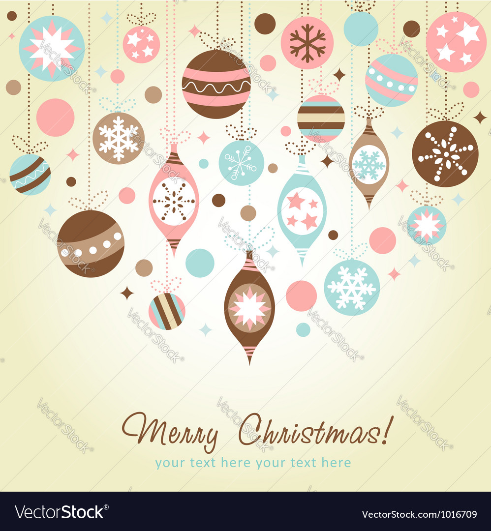 Beautiful design christmas greeting card vector