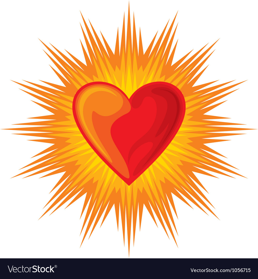 Heart shining vector
