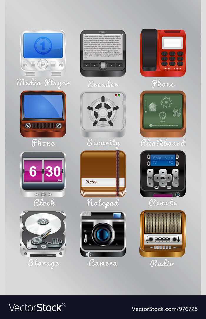 Mobile icons for your device vector