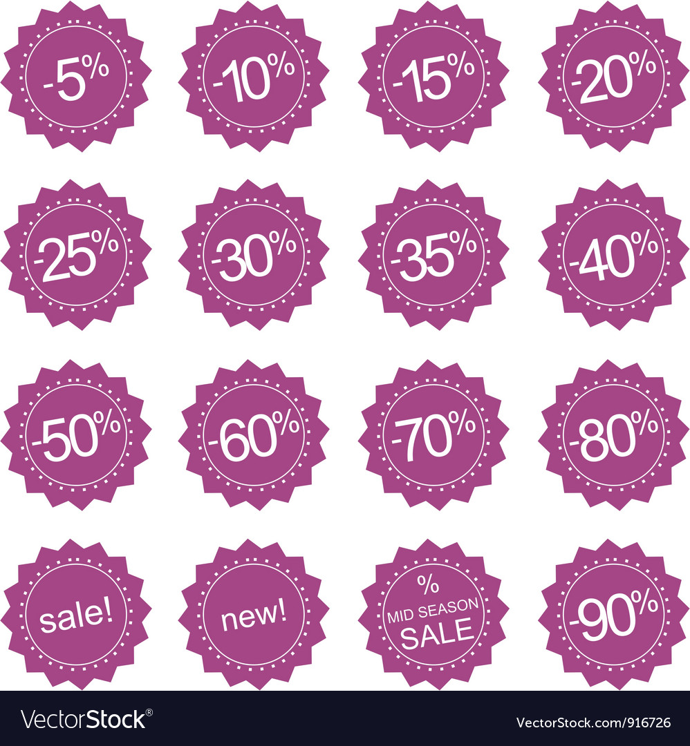 Retro sale icons tag stickers or labels vector