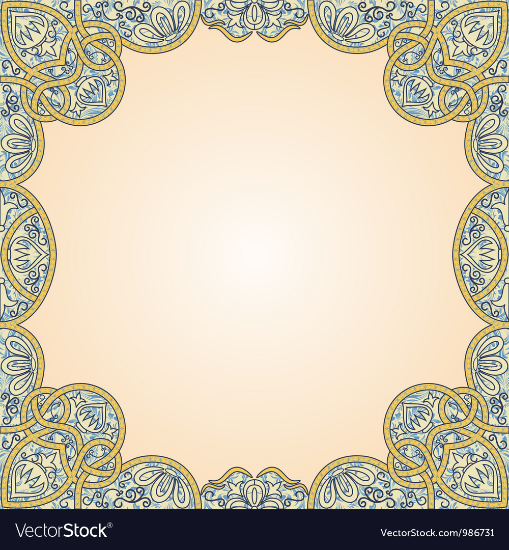 Floral arabesque seamless background vector