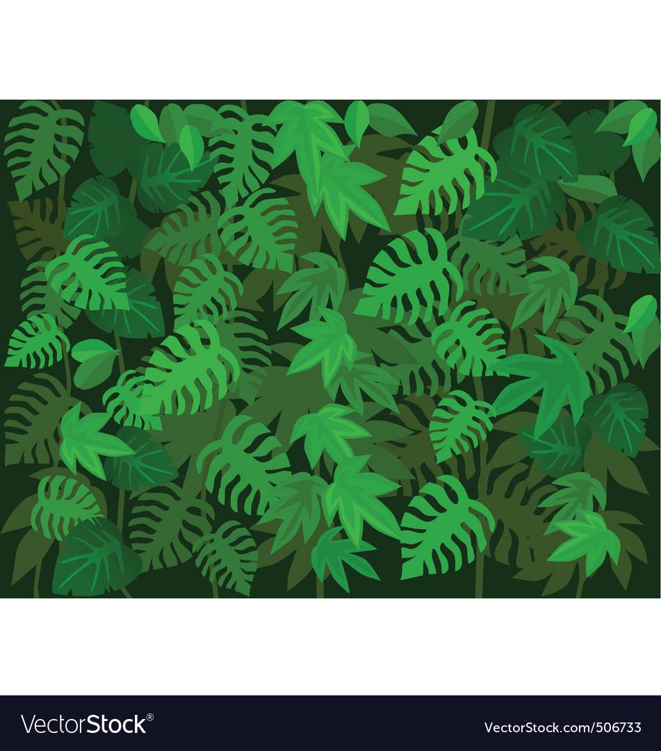 Tropical leaf background vector