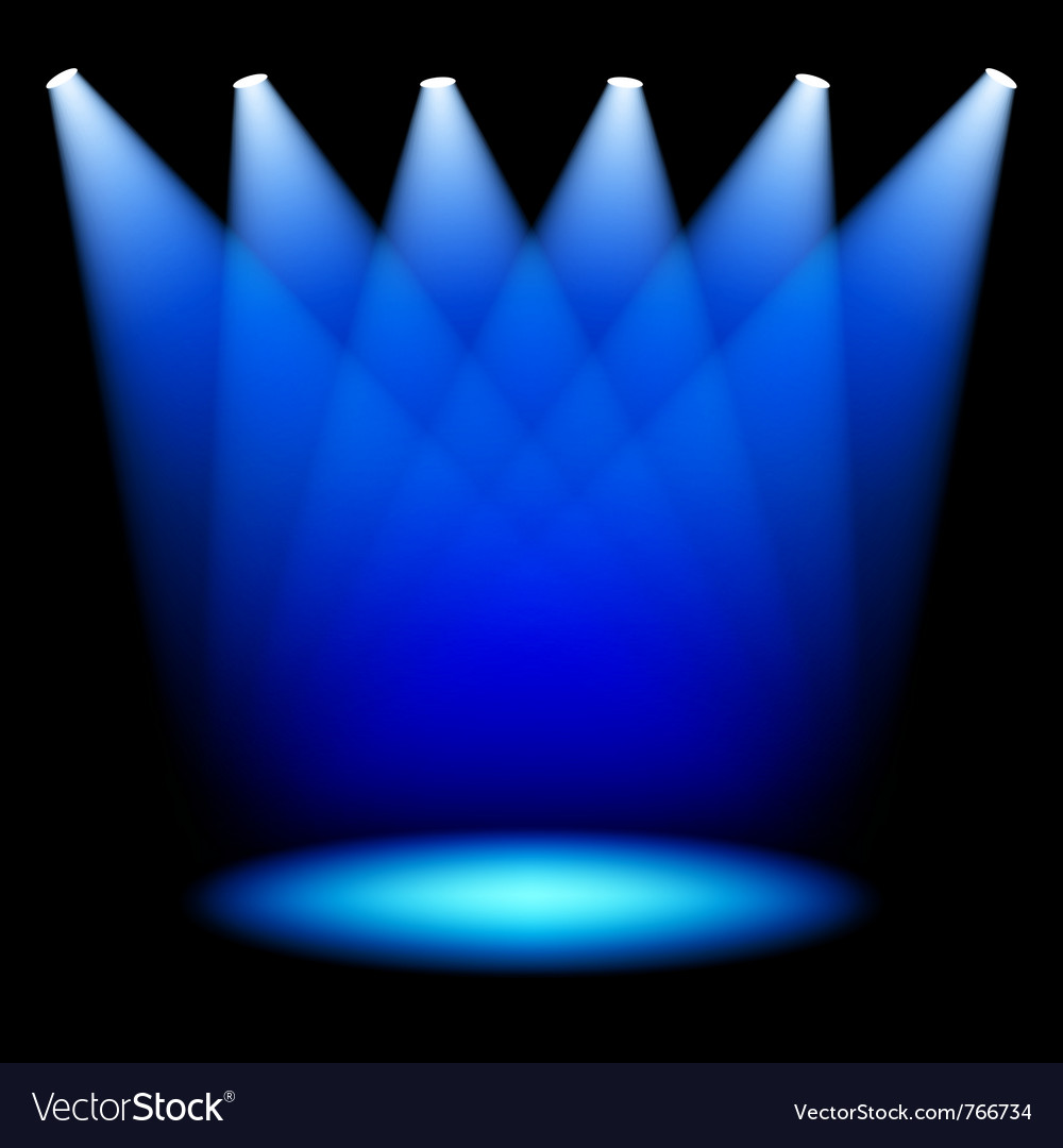 Stage spotlights vector