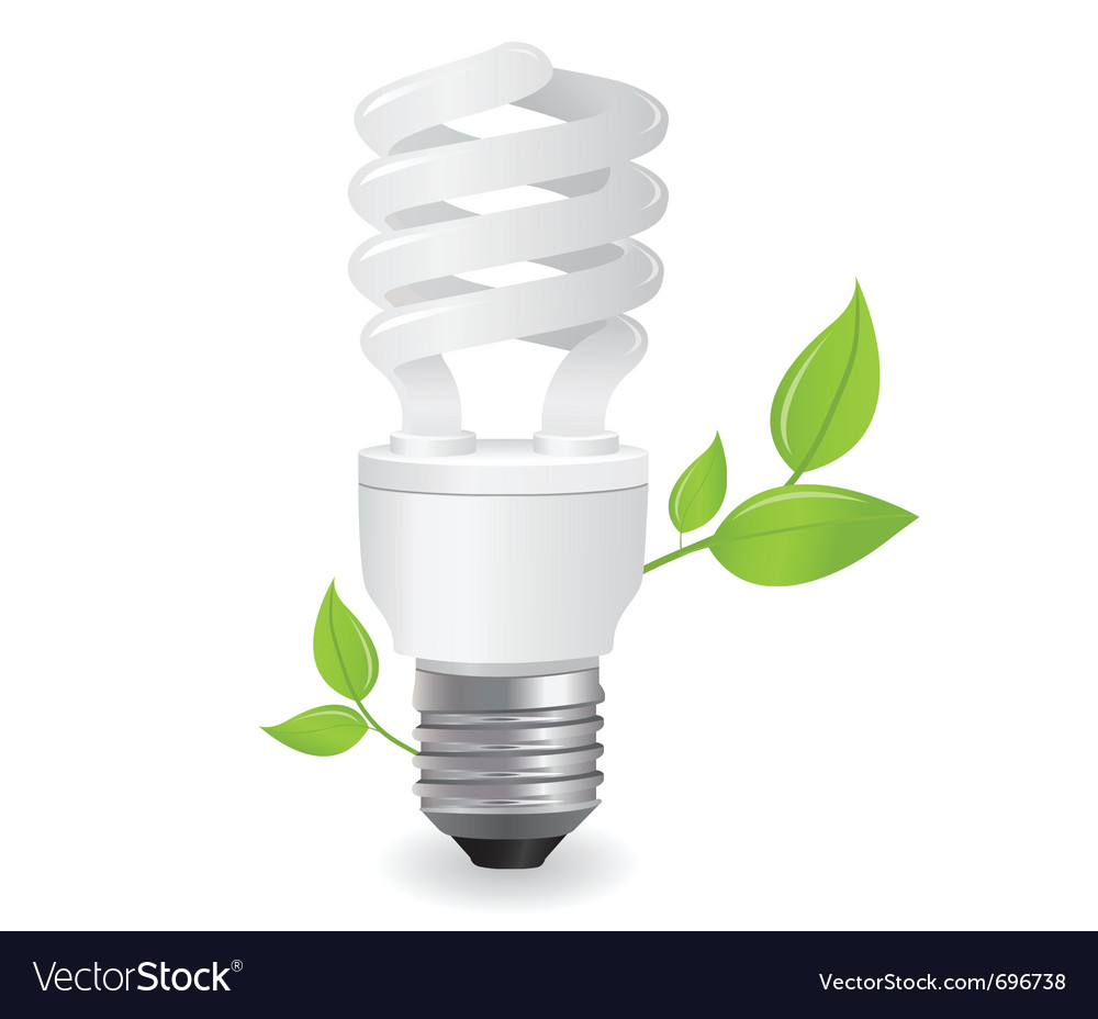 Ecological lightbulbs vector