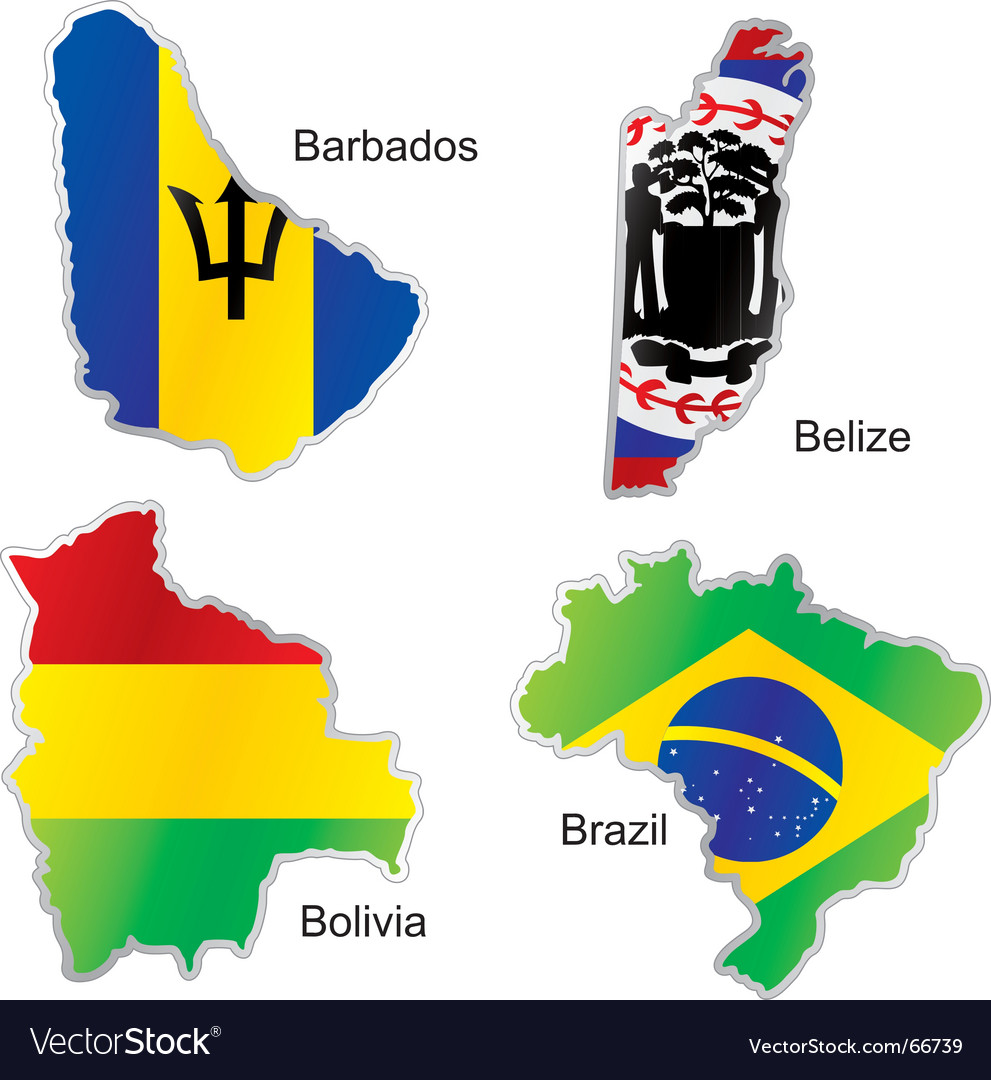 America maps vector
