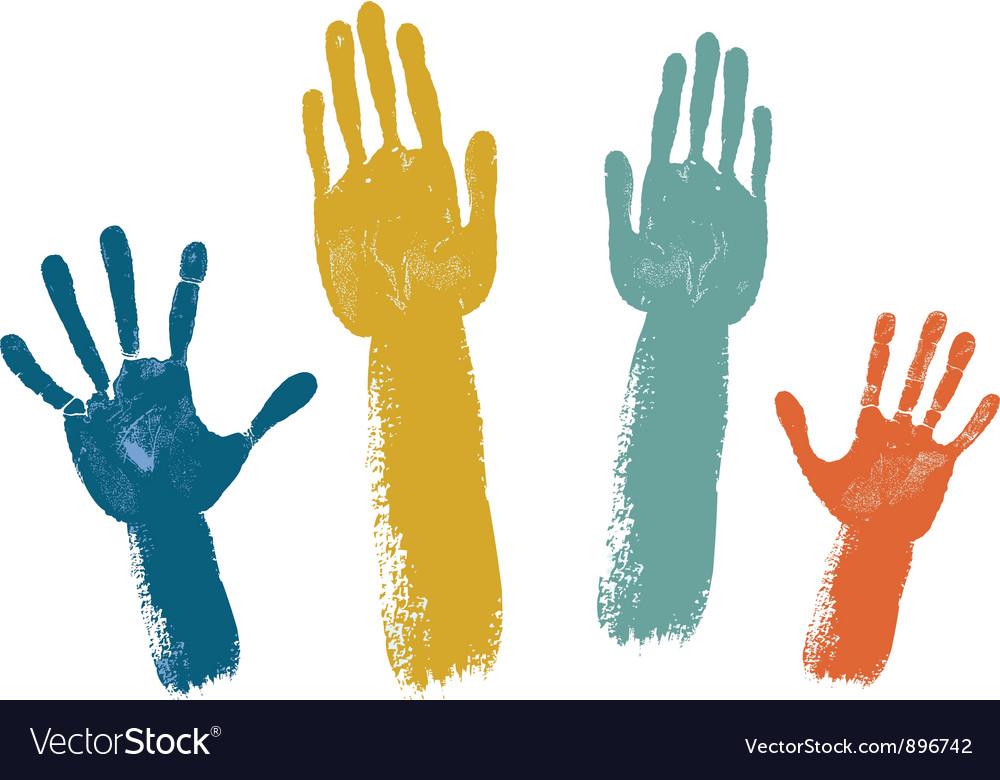 Voting hands vector