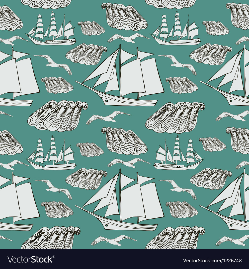Decorative sea background vector