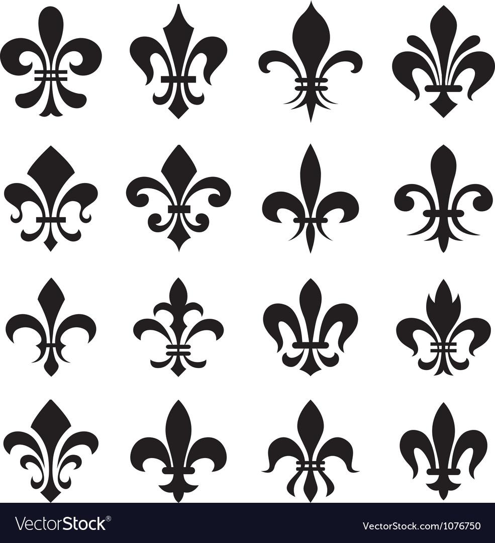 Le lys Classic-fleur-de-lys-symbol-icon-set-vector-1076750