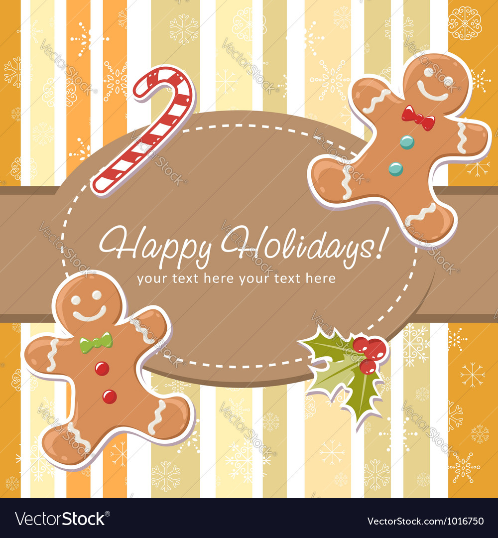 Cute christmas card vector