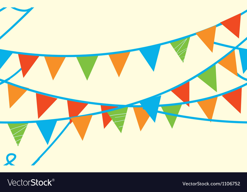 Seamless banner with flags vector