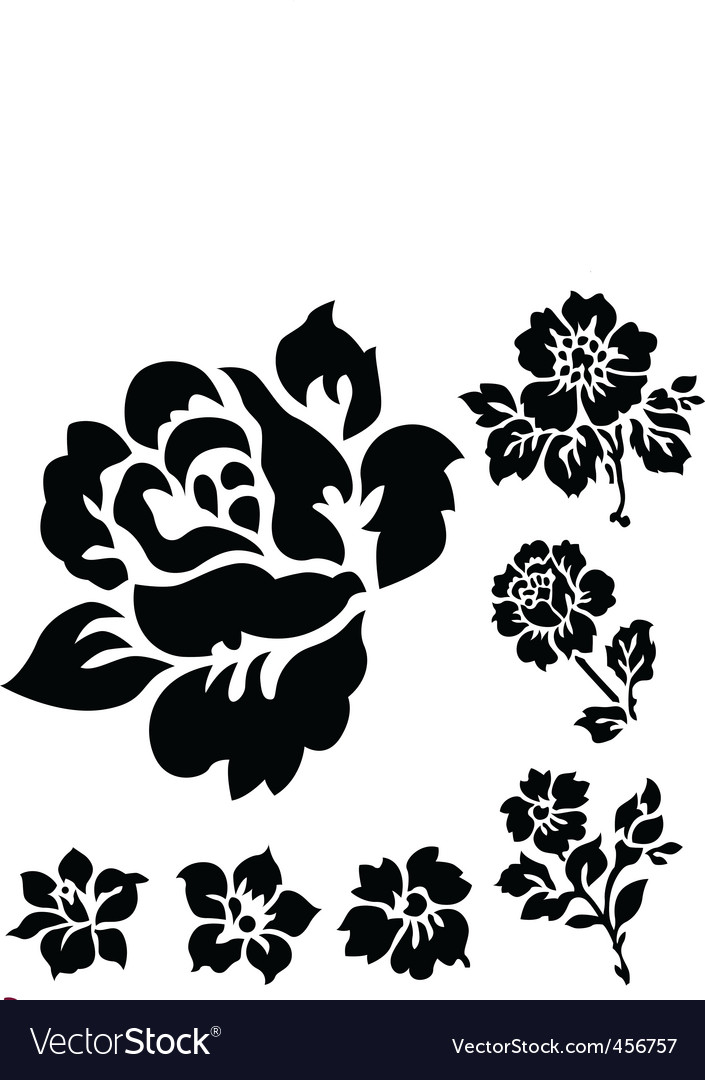 Rose ornamental vector