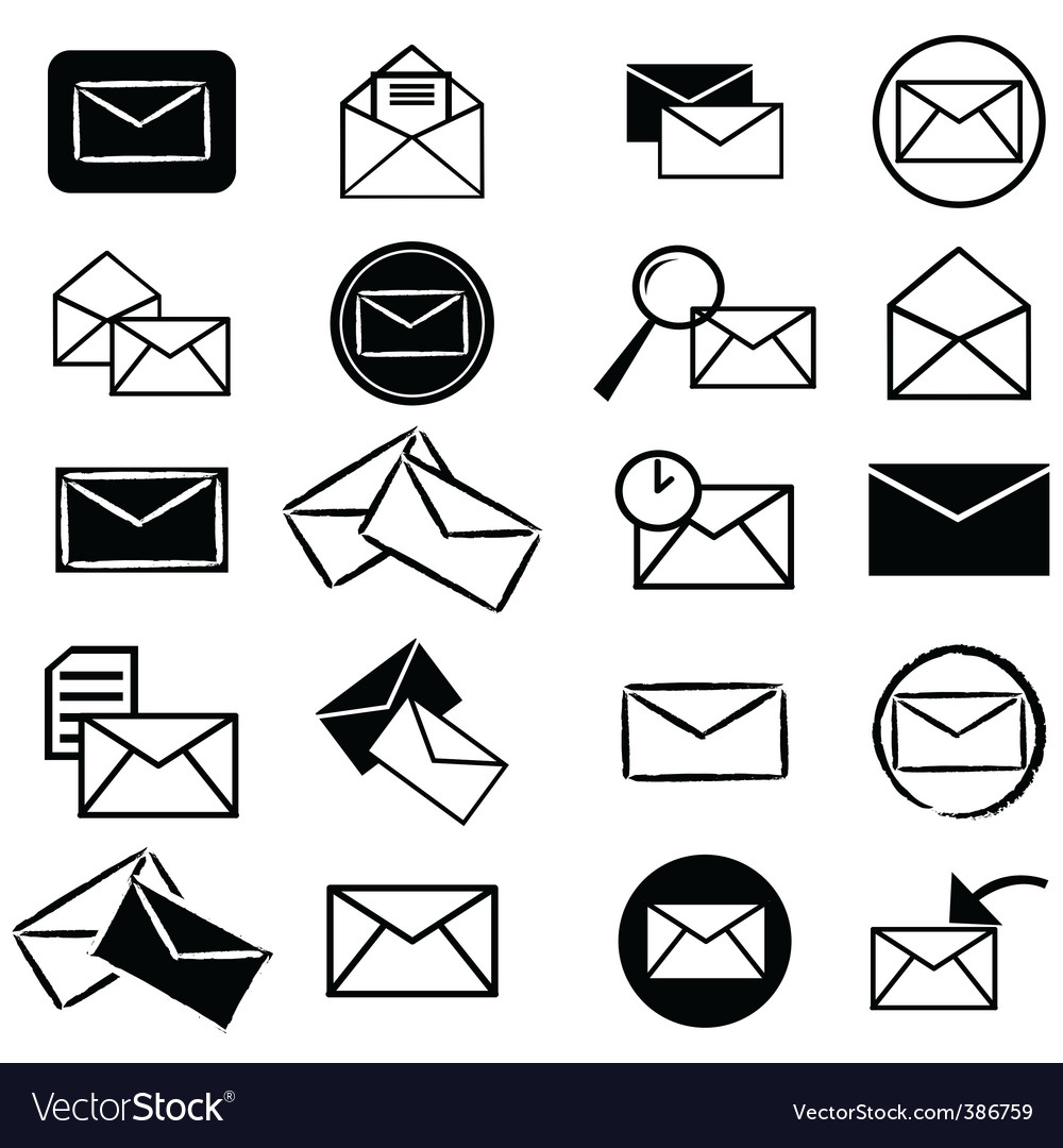 Email Icons Vector – images free download