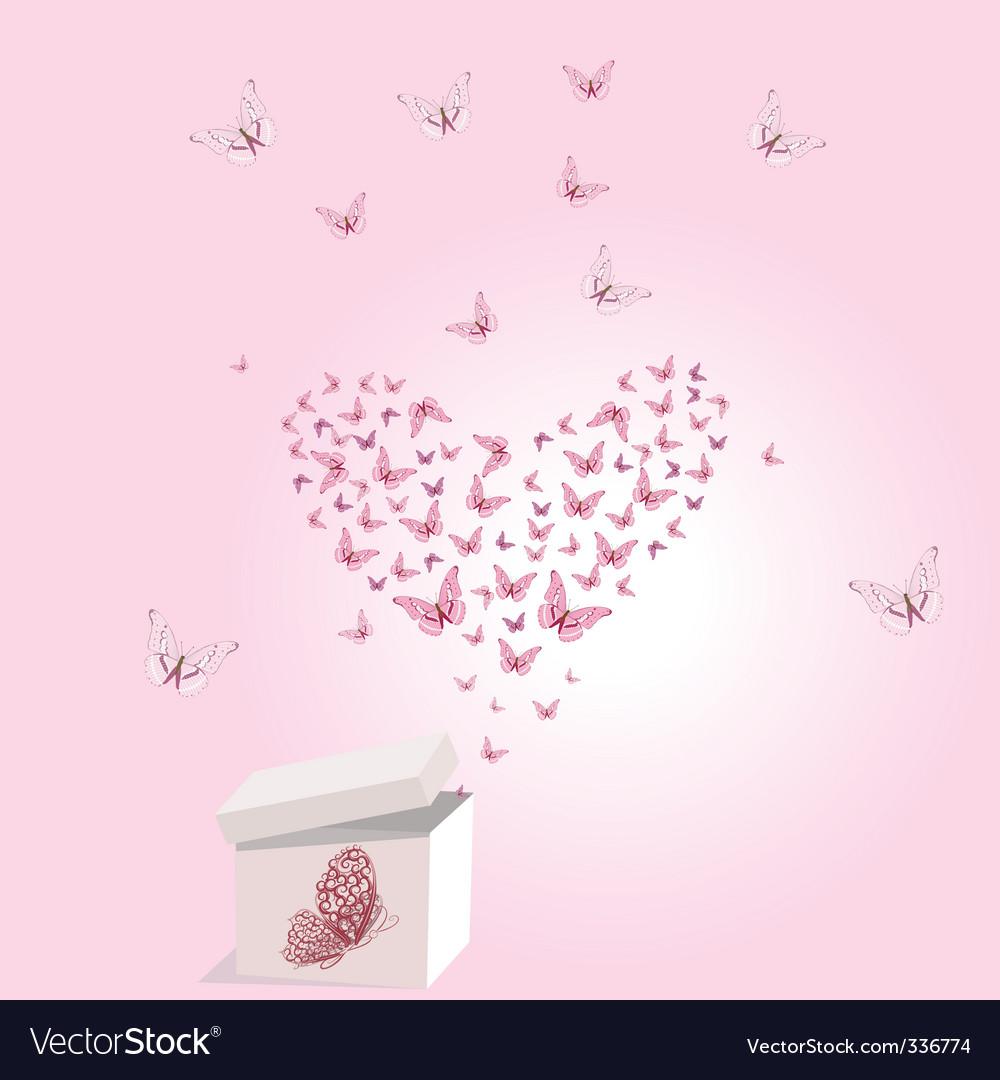 Gift valentine vector