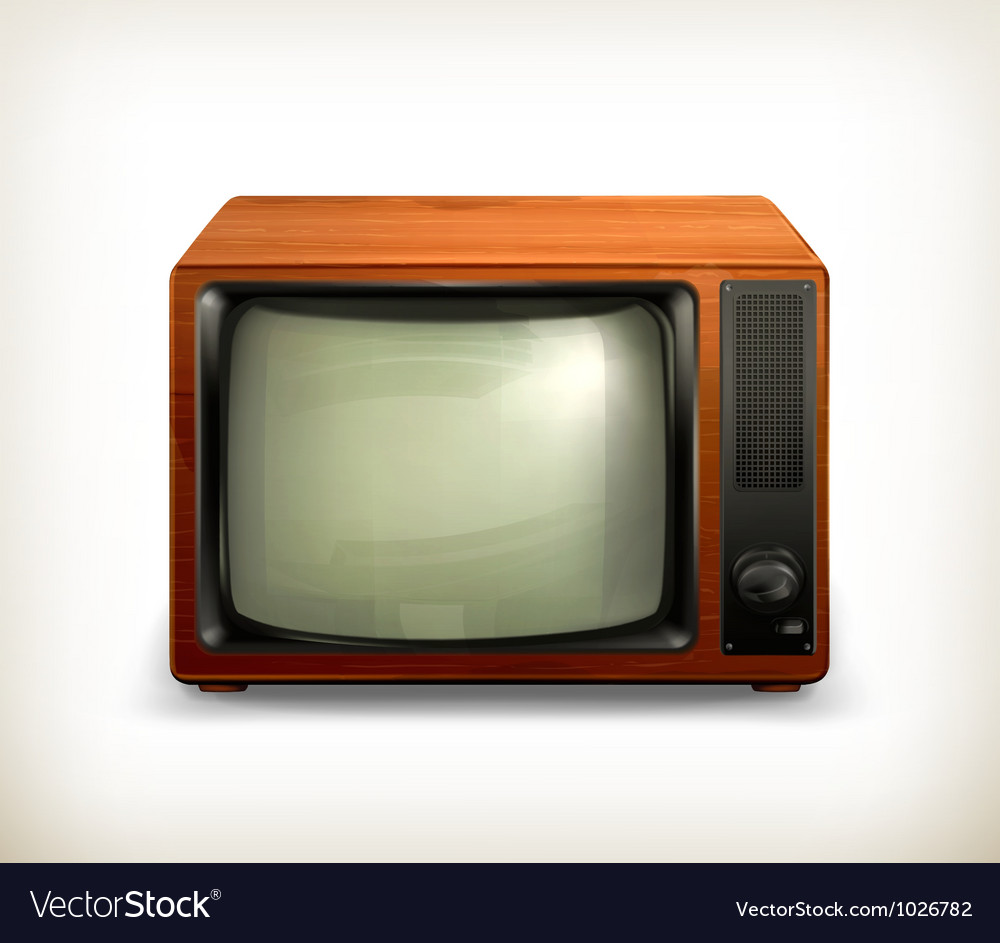 Tv set retro vector