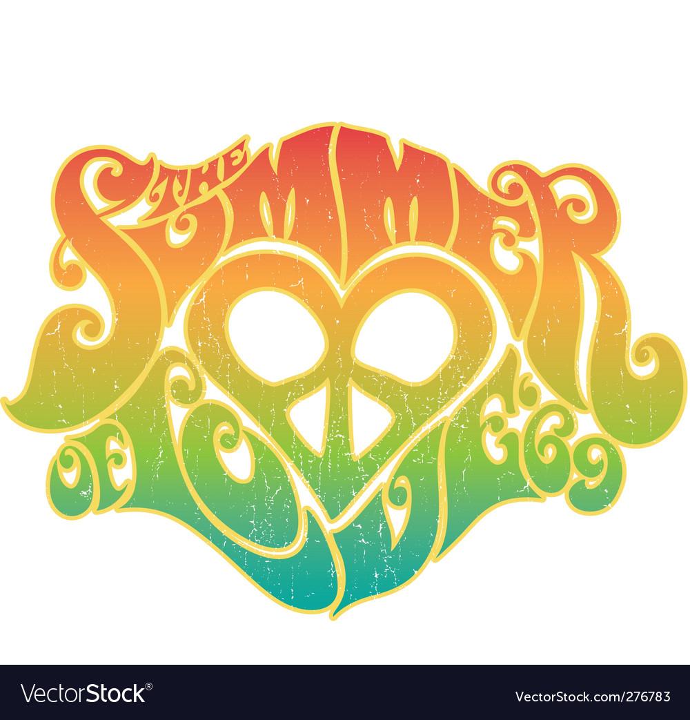 Summer of love vector
