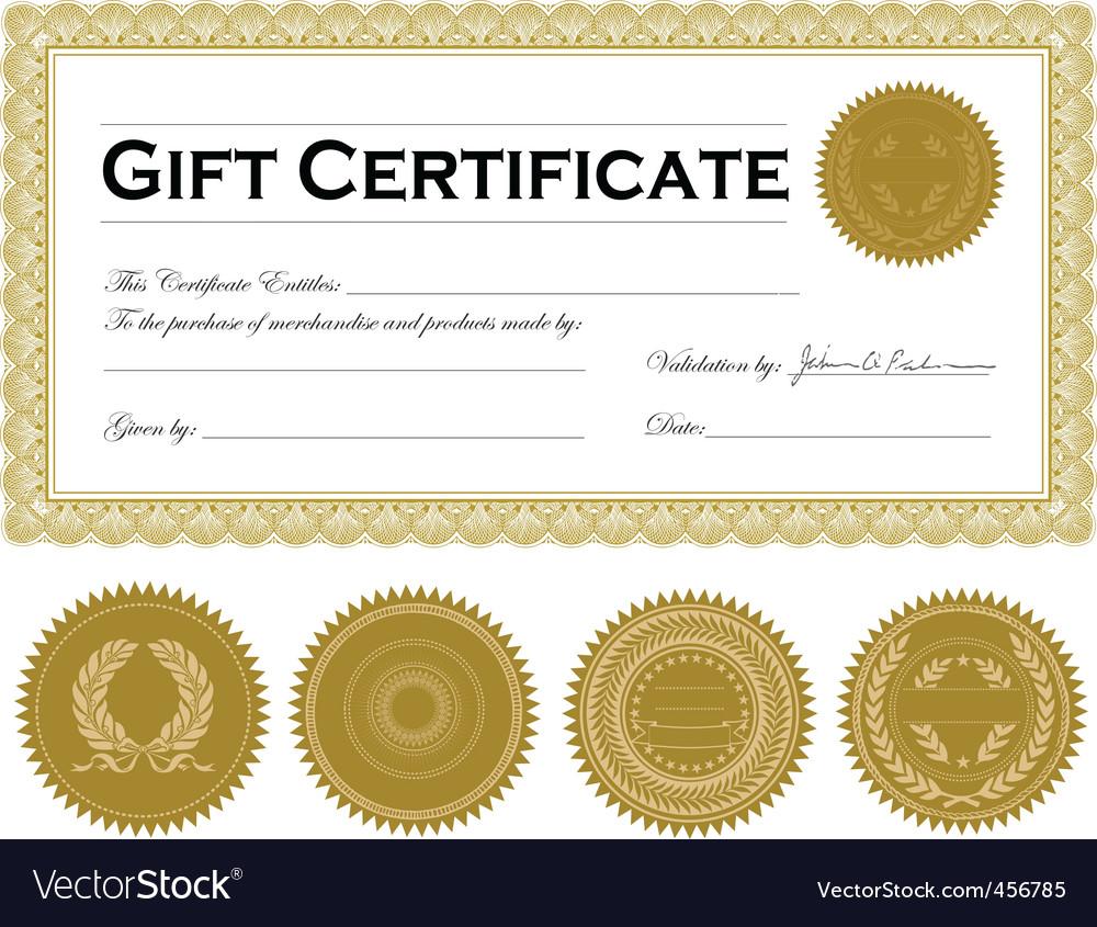 dark gold certificate frame vector