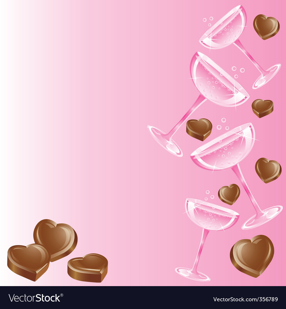 Champagne and chocolates vector