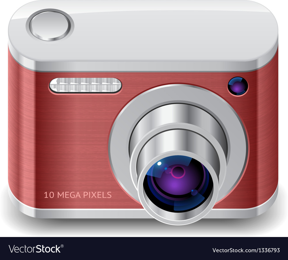 Icon for compact photo camera vector