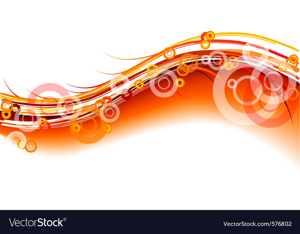 Red wavy background on white vector
