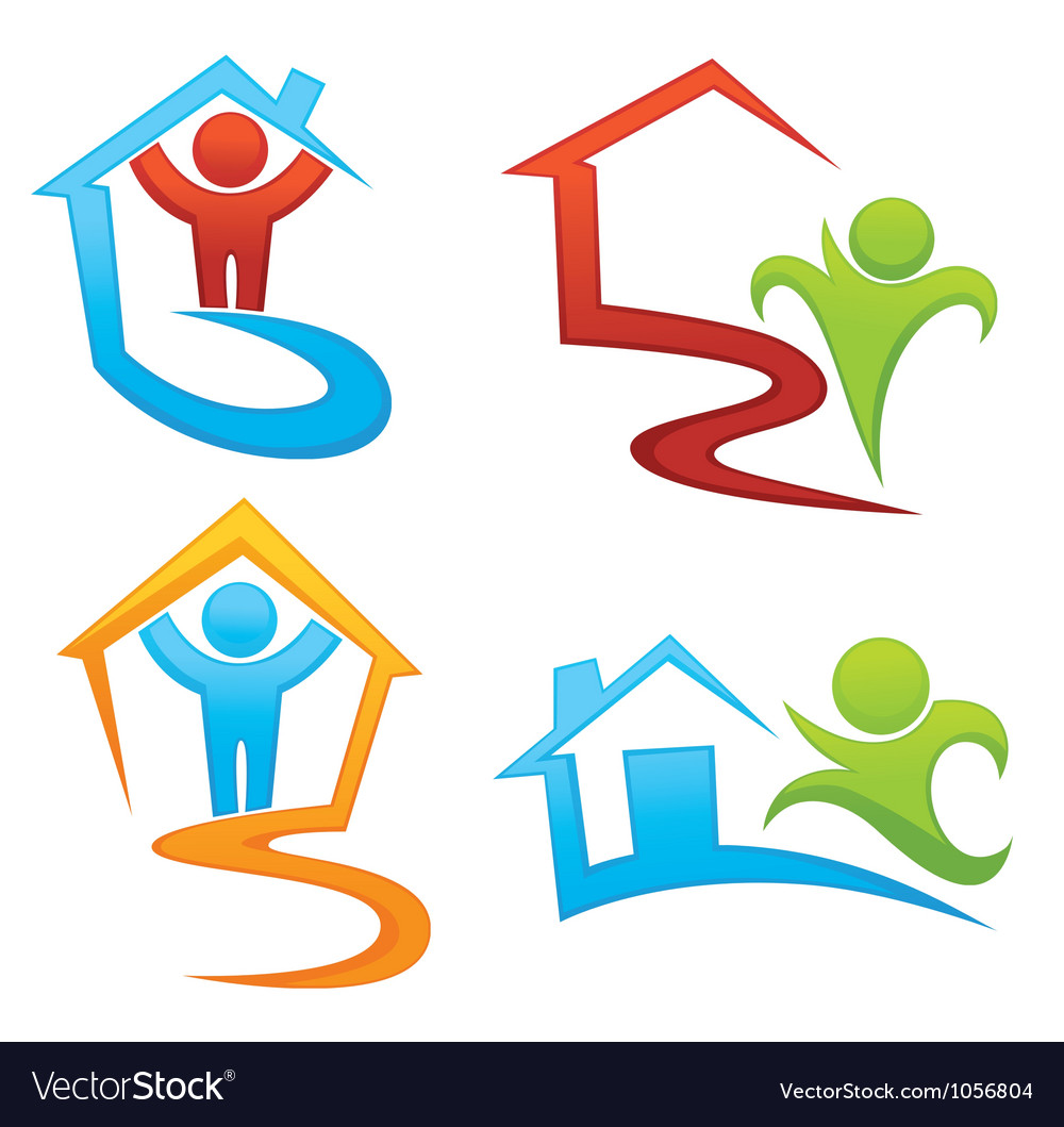 Property development and real estate symbols vector