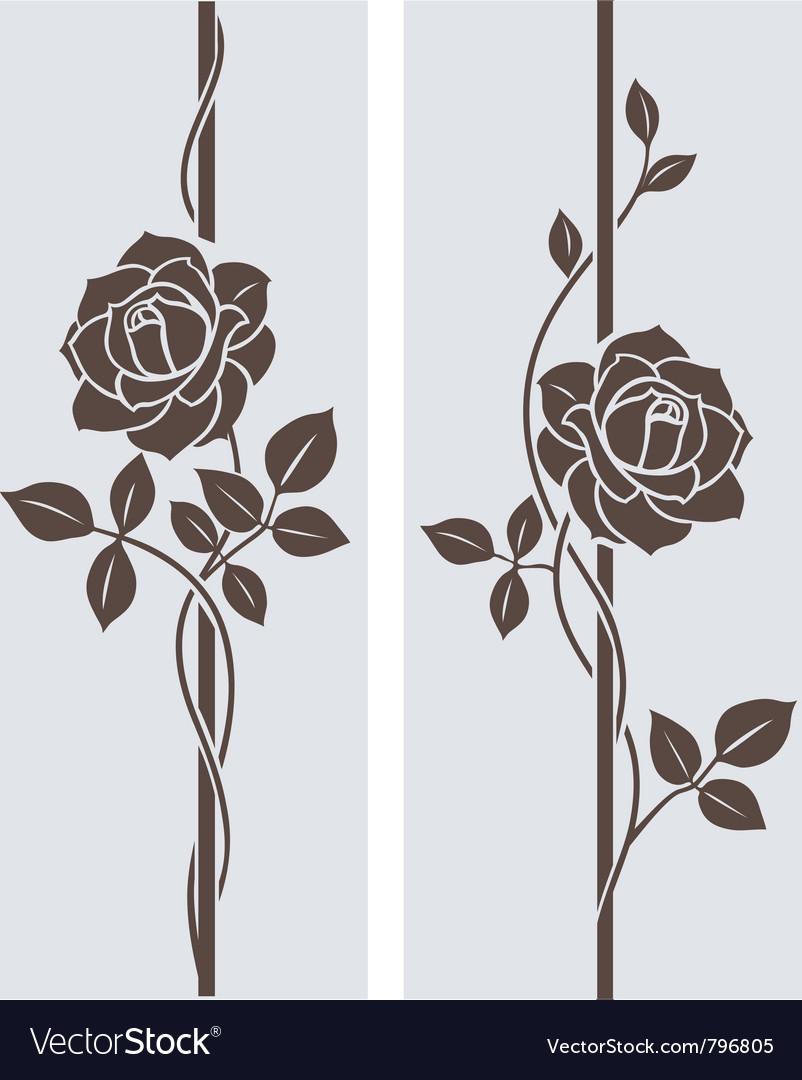 Rose decorative vector