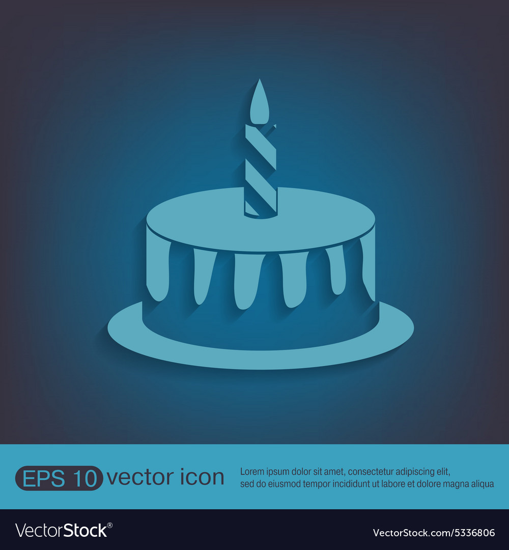 Birthday cake icon vector by Little_cuckoo - Image #5336806 ...