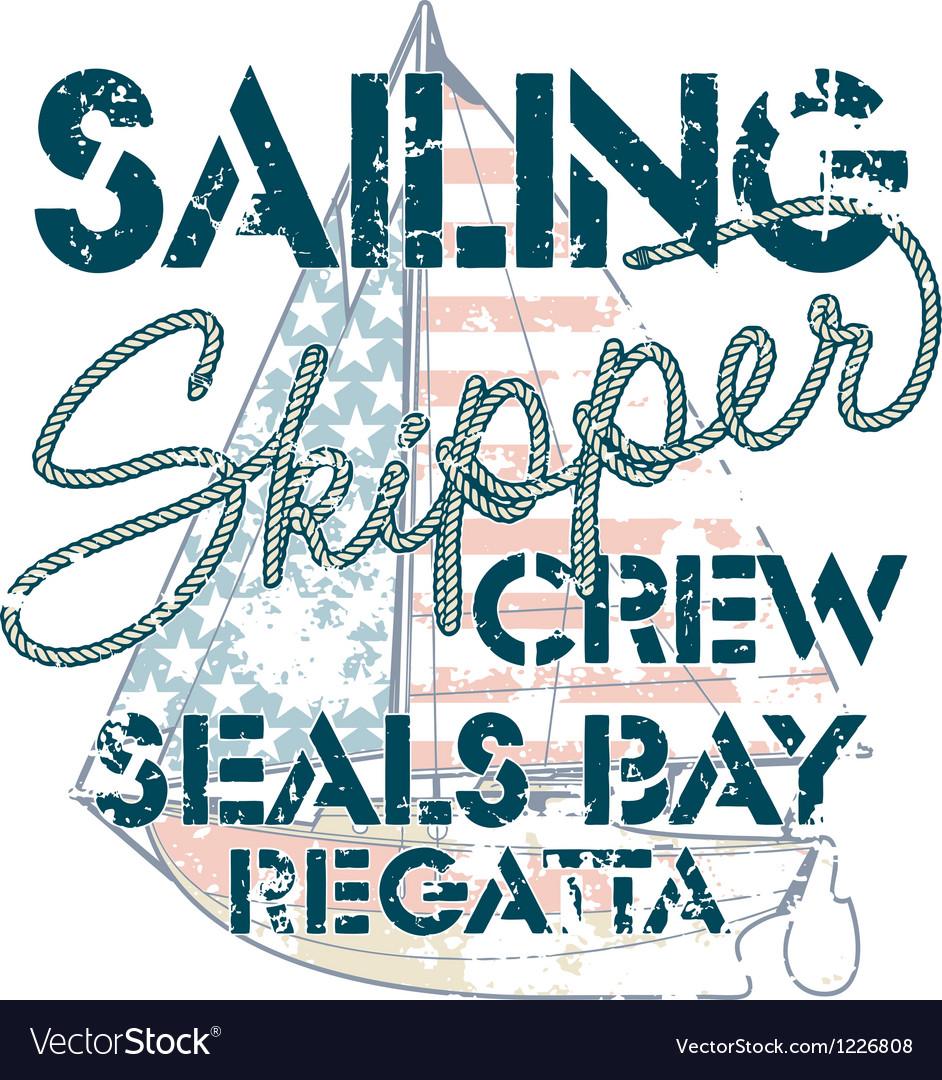 Sailing crew vector