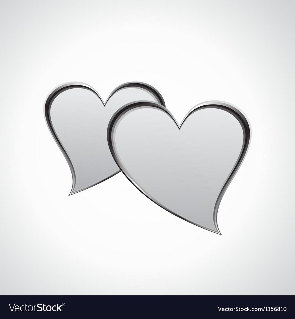 Hearts speech bubble vector