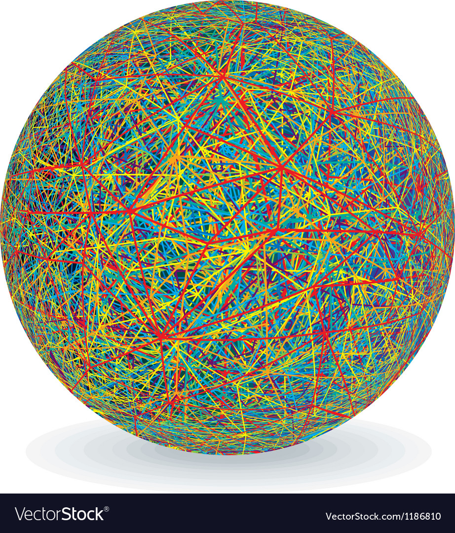 Isolated multicolored yarn ball image vector