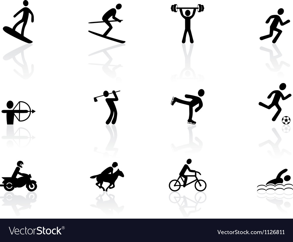 Games and sport icons vector