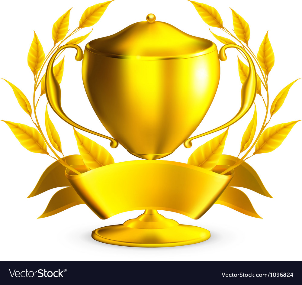 Trophy gold vector