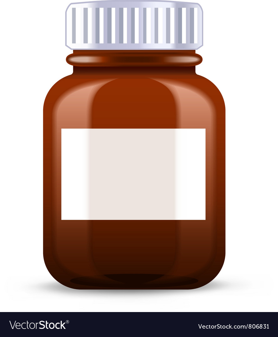Pills bottle vector
