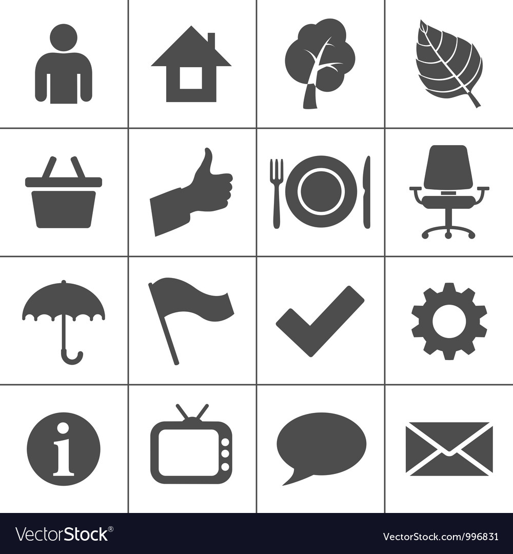 Web icons set - simplus series vector