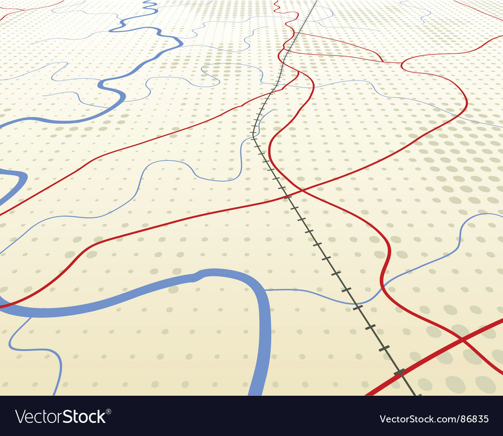 Angled map vector