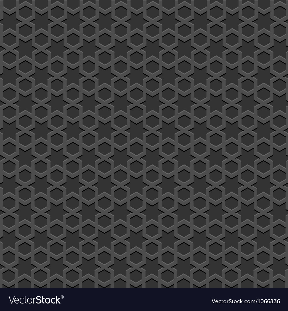 Black textured islamic pattern vector