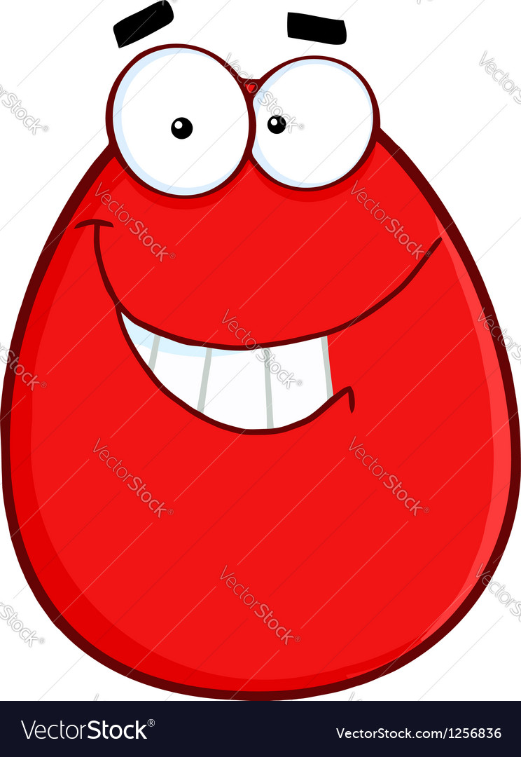 Smiling egg cartoon character vector