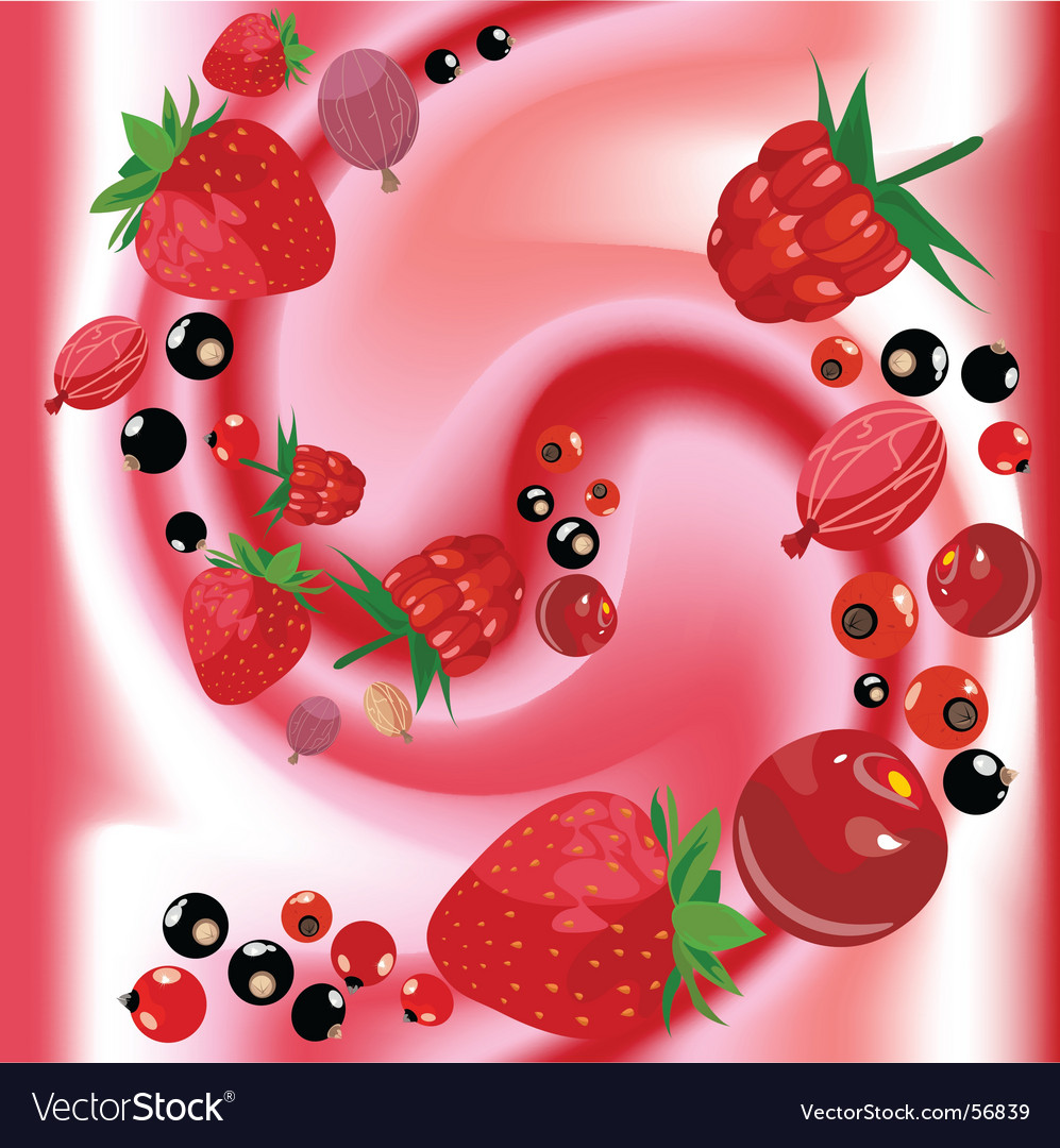 Fruit yoghurt vector