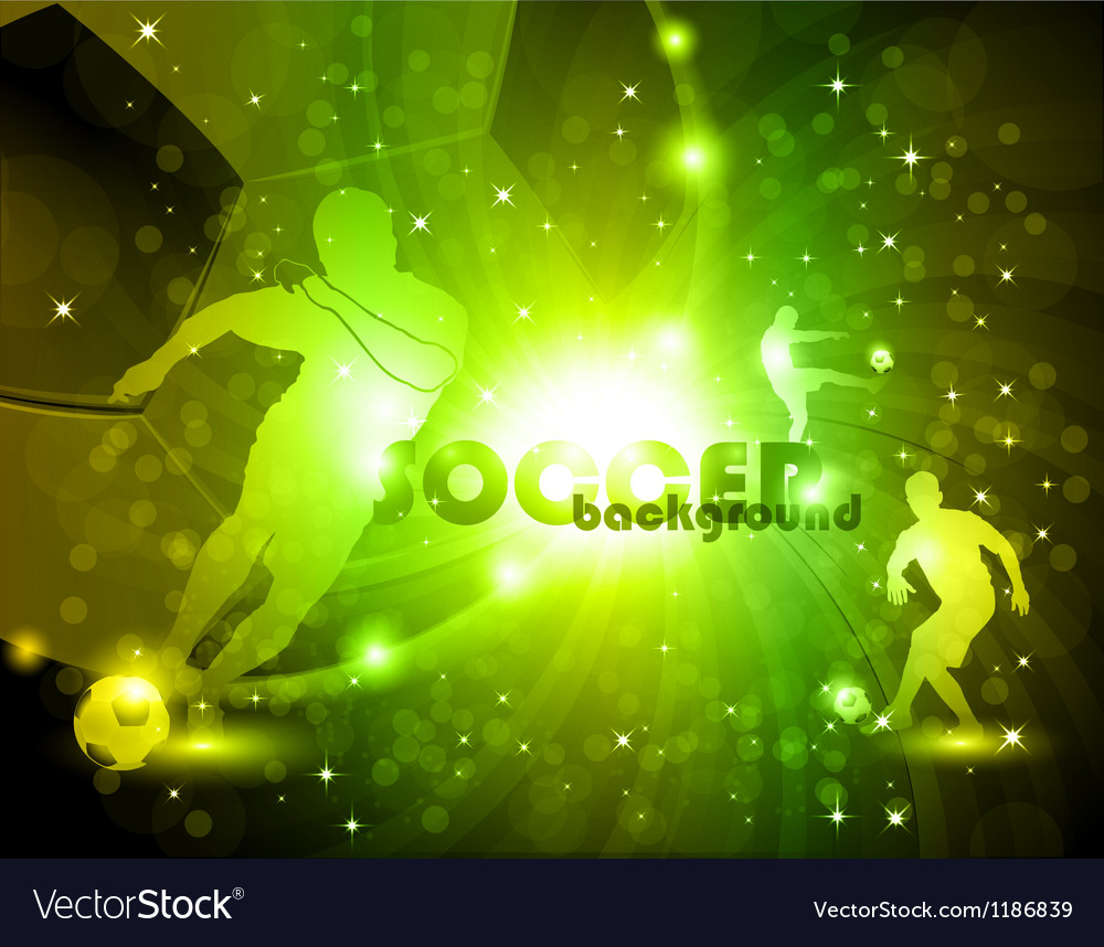 Green abstract soccer background vector