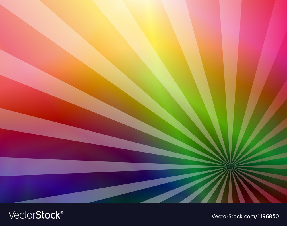 Free rainbow business card vector