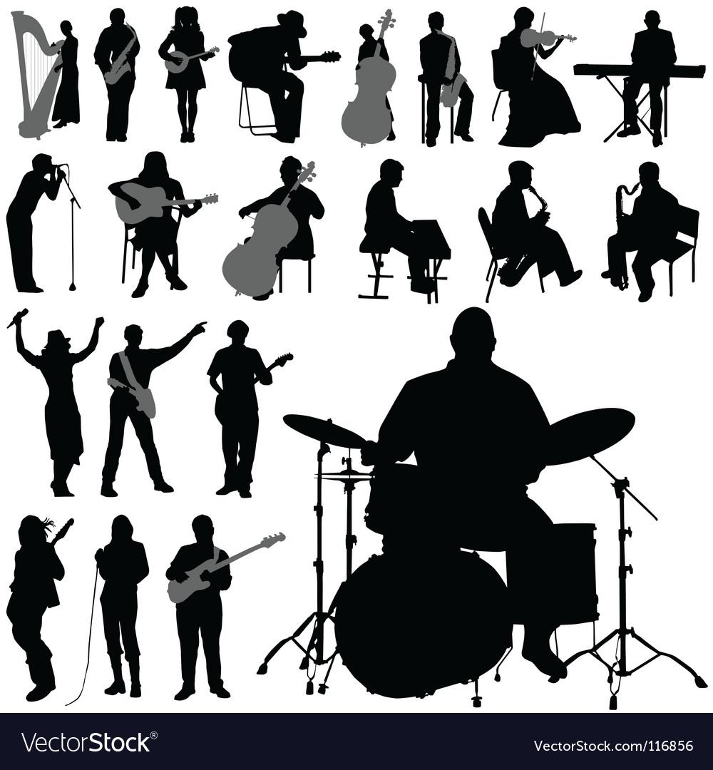 Musician set vector
